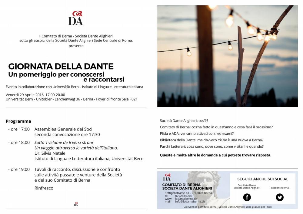 SDA - Giornata della Dante - liflet A5 - Druck