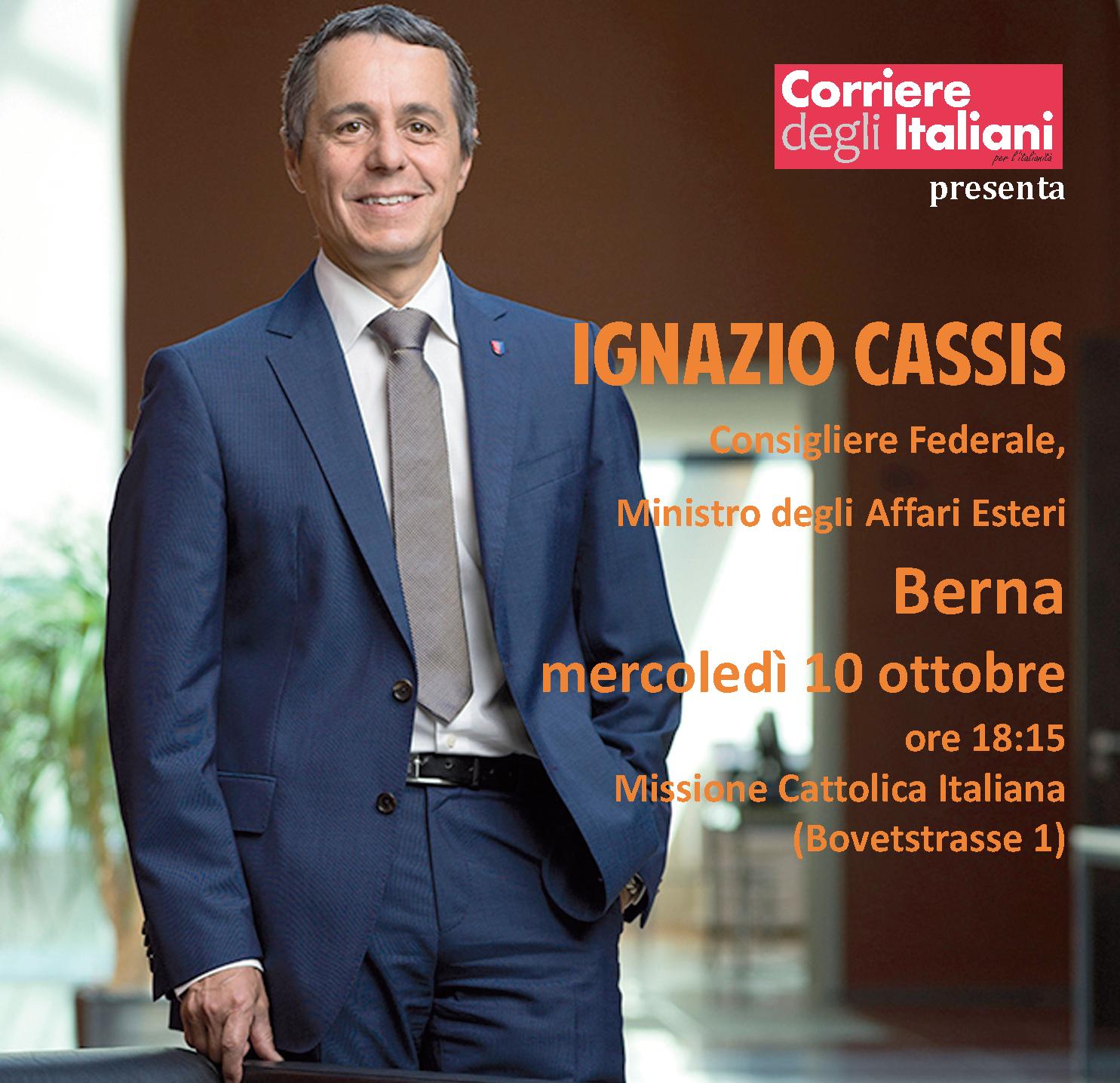 Incontro con il consigliere federale, Ignazio Cassis, 10.10.2018