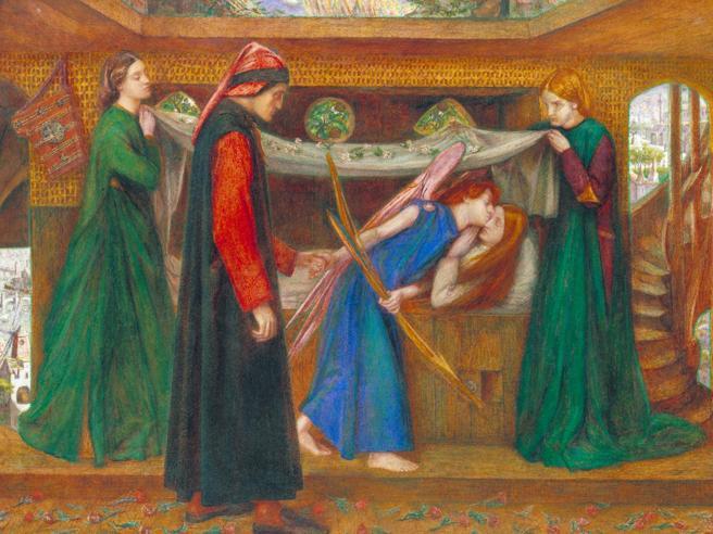Illustrazione «Il sogno di Dante alla morte di Beatrice»