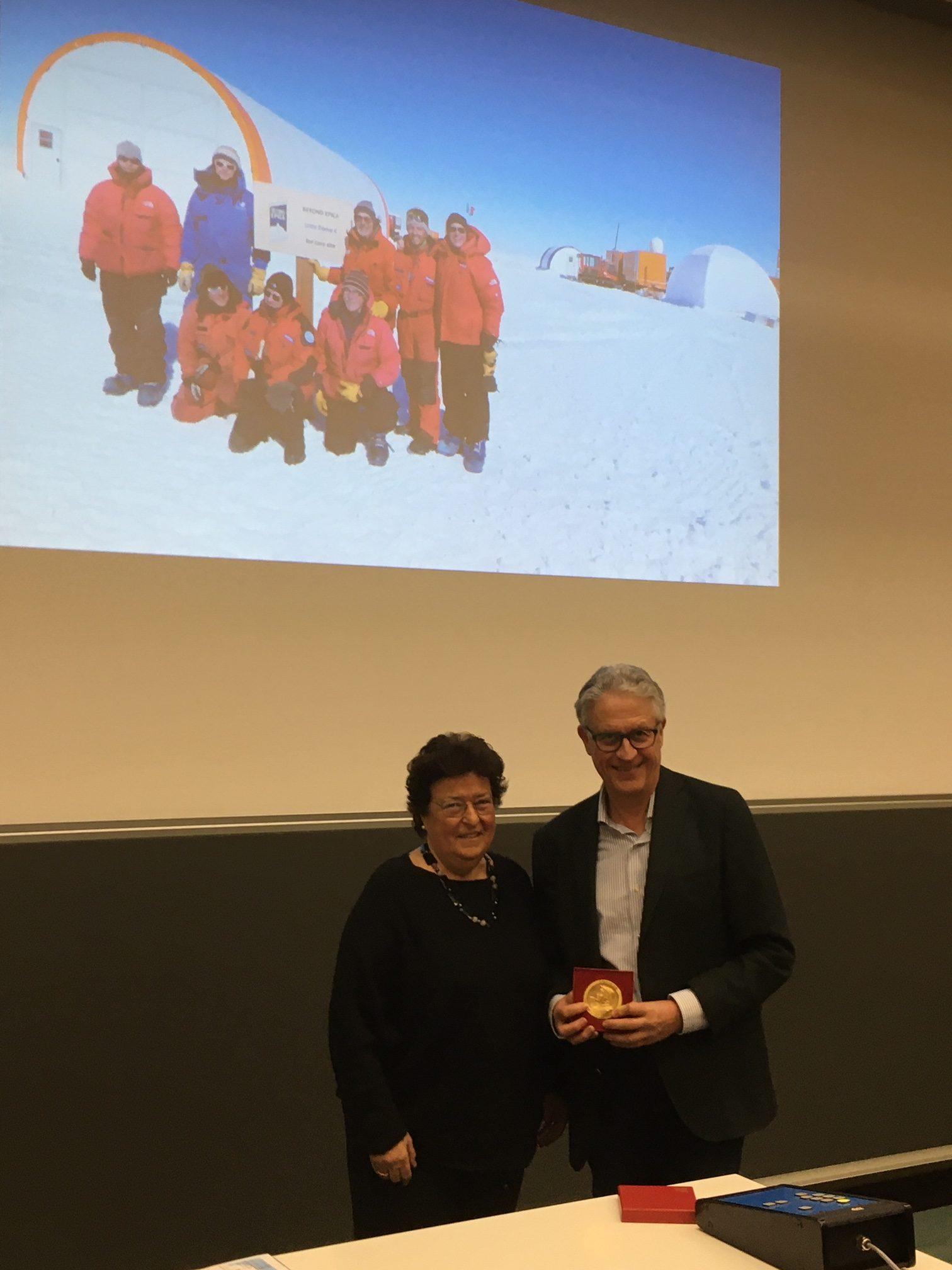"""Conferenza """"Spedizione Antartide"""" 17.02.2020, Anna Rüdeberg e Thomas Stocker"""