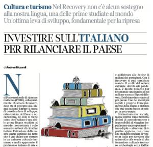 Articolo A.Riccardi: investire sull'italiano+link al testo (pdf)